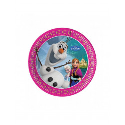 Pack de 8 platos de papel Olaf Disney