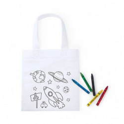 Bolsa para colorear space non woven 5 ceras incl.