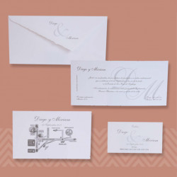 Invitación bordes maceados
