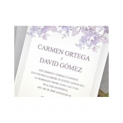 INVITACION + SOBRE + INT CARMEN Y DAVID