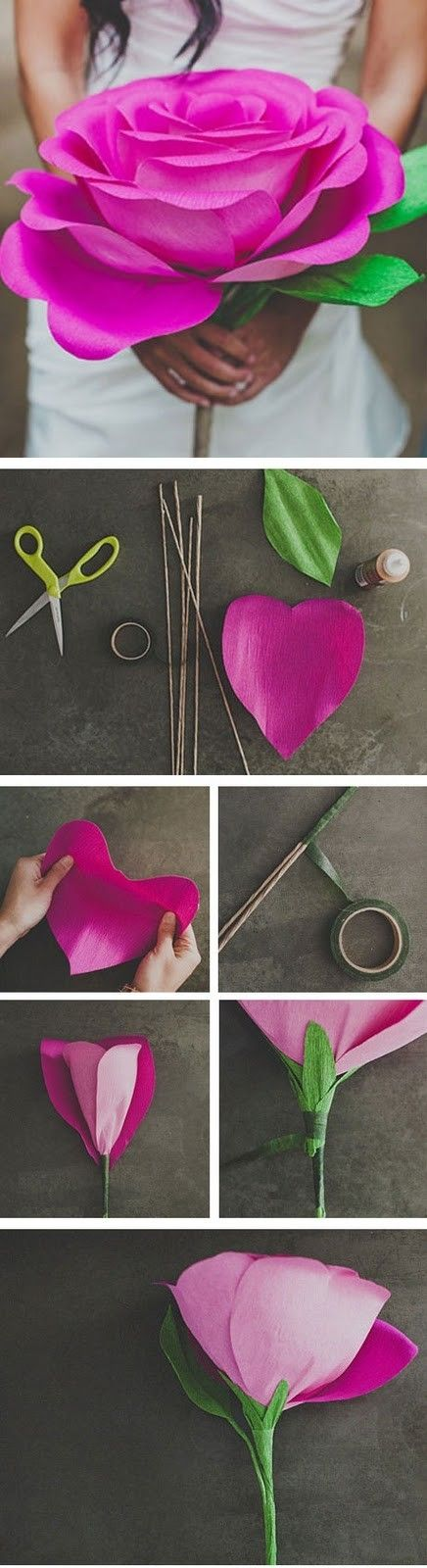 Diy Flor Gigante De Papel Crepe Taste Celebration